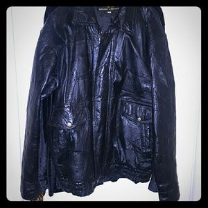 Other - VTG Genuine Patterned Leather Jacket